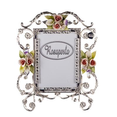 Рамка для фотографий Платина с цветами Rosaperla (Розаперла)