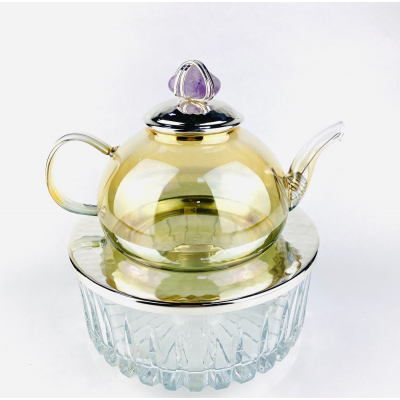 Чайник заварочный с подставкой Фиолетовый Декоративный камень Select