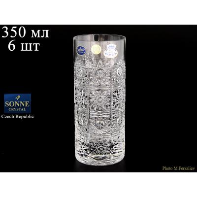 "Набор стаканов 350 мл 6 шт ""Хрусталь Снежинка"" SONNE CRYSTAL (Сони кристал)"