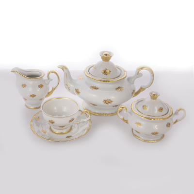 Чайный сервиз на 6 перс. 15 пред. АГ 901 Золотая Роза Thun (Тхун)