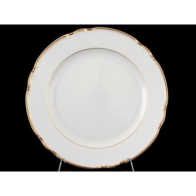 """Набор тарелок 24 см 6 шт """"Констанция Отводка золото"""" Тхун (Thun)"""