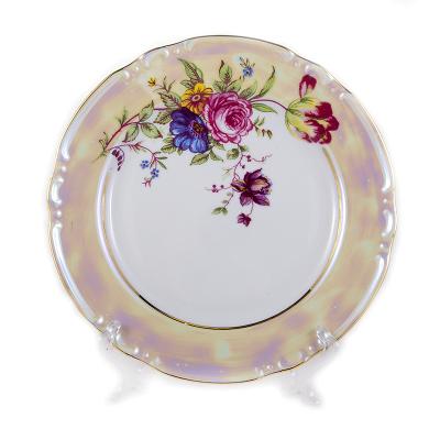 "Набор тарелок 24 см 6 шт ""Констанция Букет"" Thun (Тхун)"