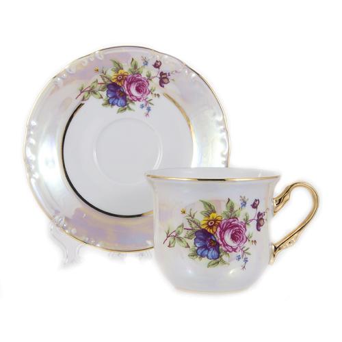 """Набор для чая на 6 перс. 12 пред. """"Констанция Букет"""" Thun (Тхун) Чехия"""