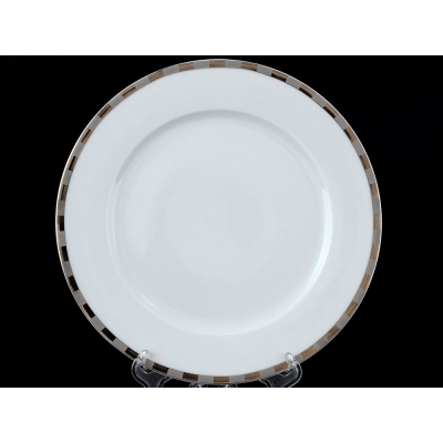 """Набор тарелок 21 см 6 шт """"Опал Платиновые пластинки"""" Thun (Тхун)"""