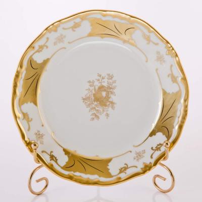 """Набор тарелок 19 см 6 шт """"Кленовый лист белый""""  Weimar Porzellan (Веймар)"""
