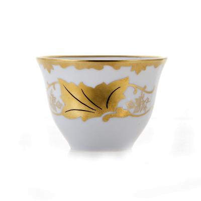 """Чашка чайная Арабика (160 мл) 1 шт """"Кленовый лист белый"""" Weimar Porzellan (Веймар)"""