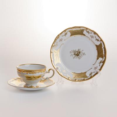 """Набор чайный  на 6 перс. 18 пред. """"Кленовый лист белый""""  Weimar Porzellan (Веймар)"""
