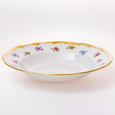 "Набор глубоких тарелок 22 см 6 шт ""Мейсенский цветок"" Weimar Porzellan (Веймар)"