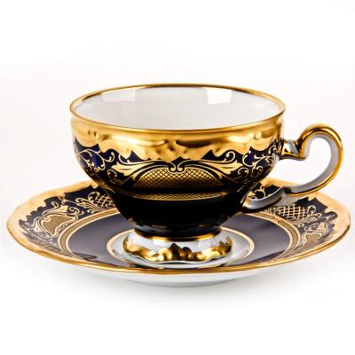 """Набор для чая (210 мл) на 6 перс. 12 пред.  """"Симфония Кобальт 8012"""" Weimar Porzellan (Веймар)"""