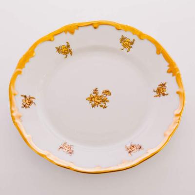 """Набор тарелок 17 см 6 шт """"Роза Золотая 1007""""  WeimarPorzellan (Веймар)"""