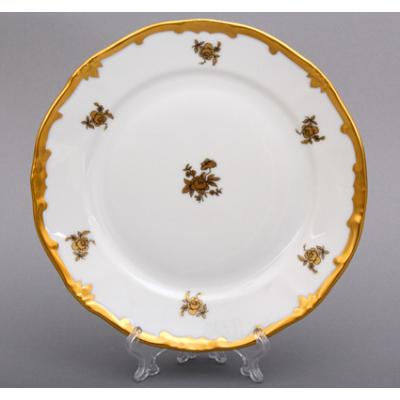 """Набор тарелок 19 см 6 шт """"Роза Золотая 1007""""  WeimarPorzellan (Веймар)"""