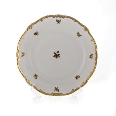 """Набор тарелок 26 см 6 шт """"Роза Золотая 1007""""  WeimarPorzellan (Веймар)"""